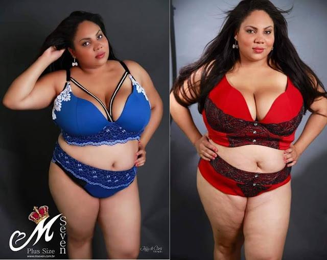 f3b28d256 M. Seven Lingeries para mulheres plus sizes reais