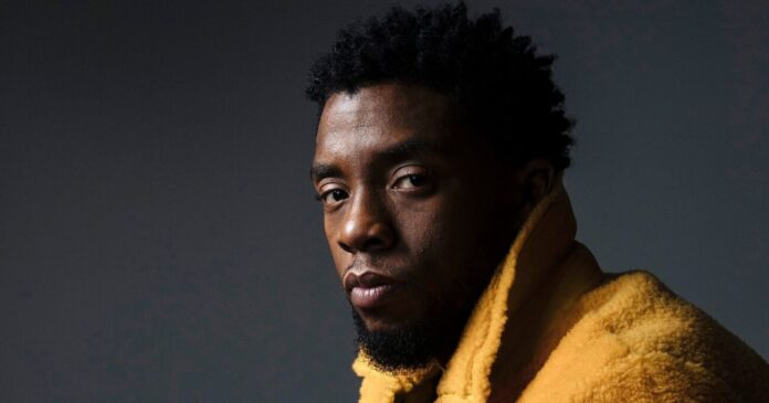 "Mandatory Credit: Photo by Victoria Will/Invision/AP/Shutterstock (9637185a) Actor Chadwick Boseman poses for a portrait in New York to promote his film, ""Black Panther."" The film opens nationwide on Friday Chadwick Boseman Portrait Session, New York, USA - 14 Feb 2018"